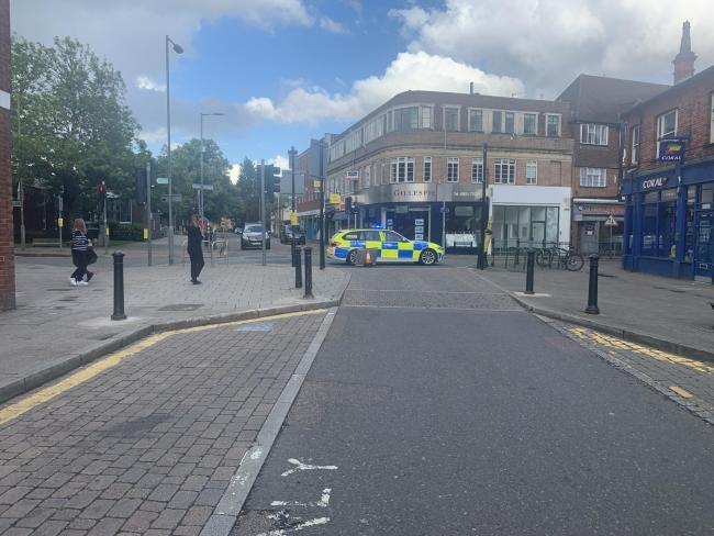 Police closed off the High Street in Rickmansworth on Saturday to investigate the fatal collision