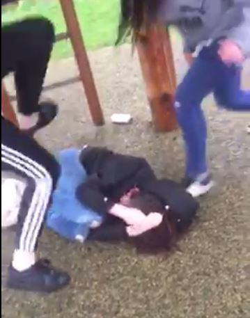 Shocking video captured the assault on the helpless girl in a South Oxhey playground