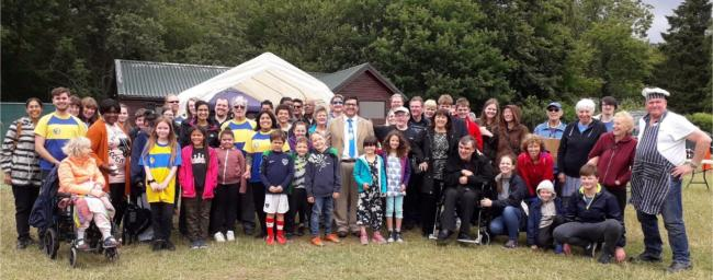 More than a 100 people were at Phasels Wood in Kings Langley