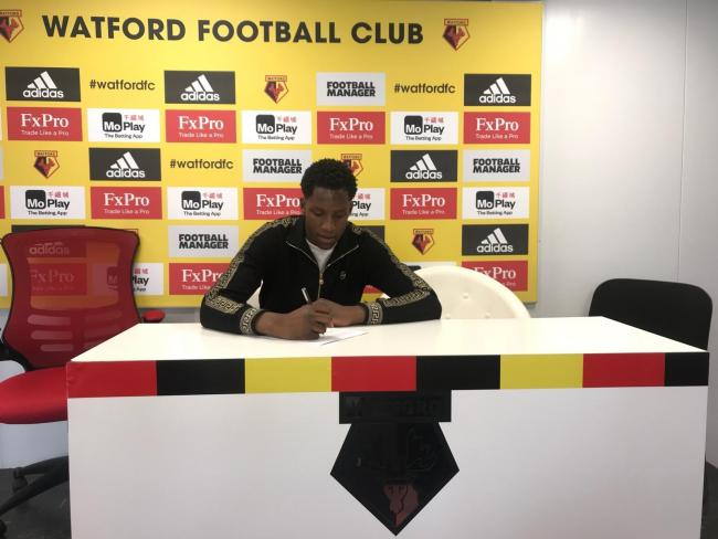 Bosun Lawal joins Watford's academy. Picture: St Kevin's Boys