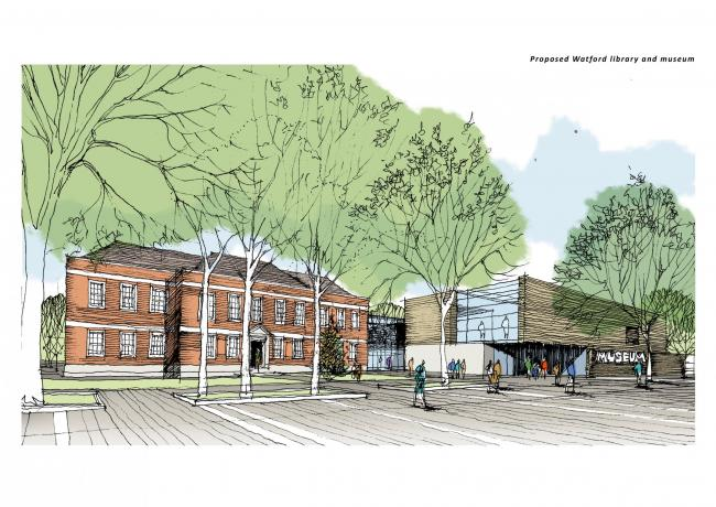 An artist's impression of the town centre redevelopment