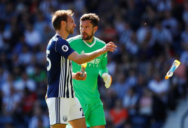 Craig Dawson and Ben Foster at West Bromwich Albion. Picture: Action Images