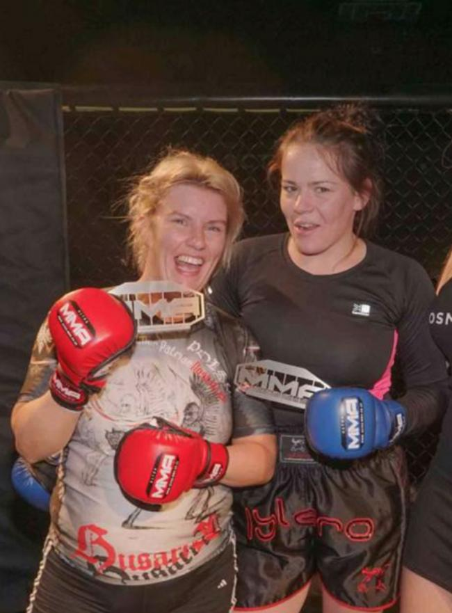Robyn Smith (left) took part in the Ultra MMA charity tournament in Watford