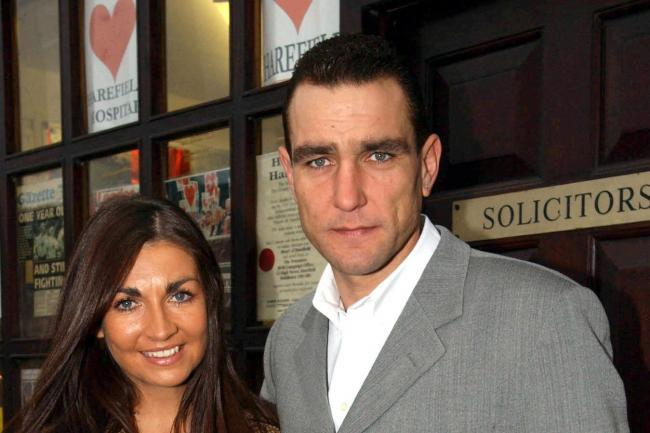 Ex footballer and actor Vinnie Jones with his wife Tanya. Photo: PA