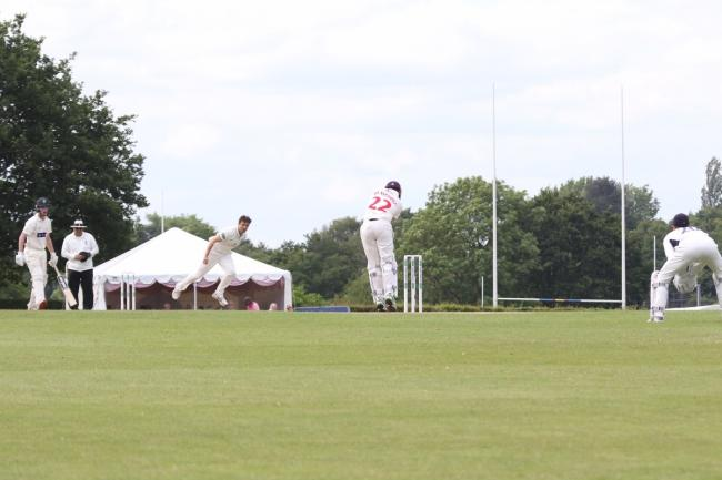 Action from Middlesex's County Championship game against Glamorgan at Radlett earlier this summer. Picture: Len Kerswill