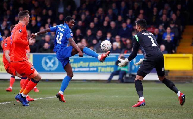 Michael Folivi in action for AFC Wimbledon. Picture: Action Images