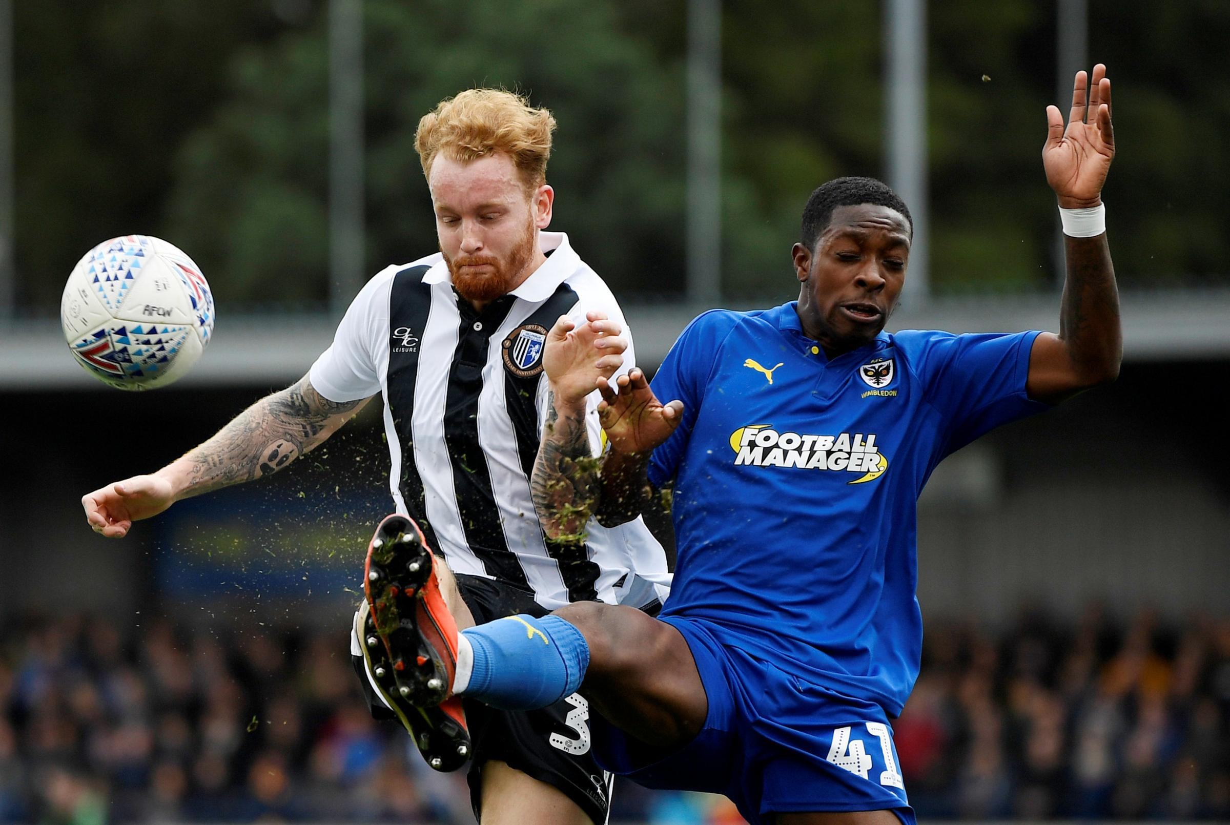 Michael Folivi scores for AFC Wimbledon hours after loan from Watford is confirmed