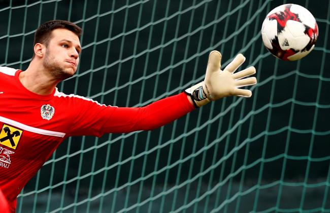 Daniel Bachmann with Austria. Picture: Action Images