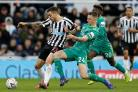 Ben Wilmot playing in the FA Cup fourth round against Newcastle. Picture: Action Images