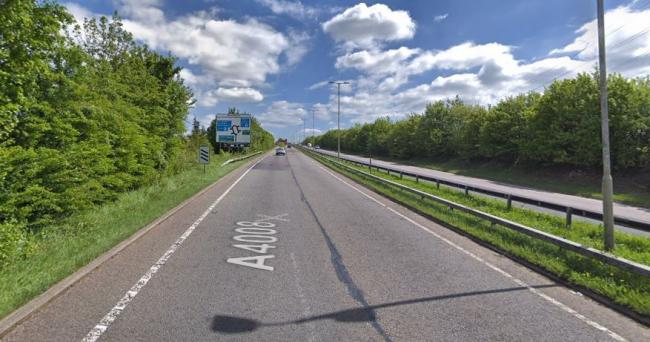 Stephenson Way out to the M1. Credit: Google Street View