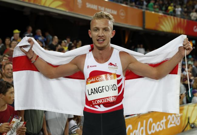 Kyle Langford has qualified for the World Championships in Doha. Picture: Action Images