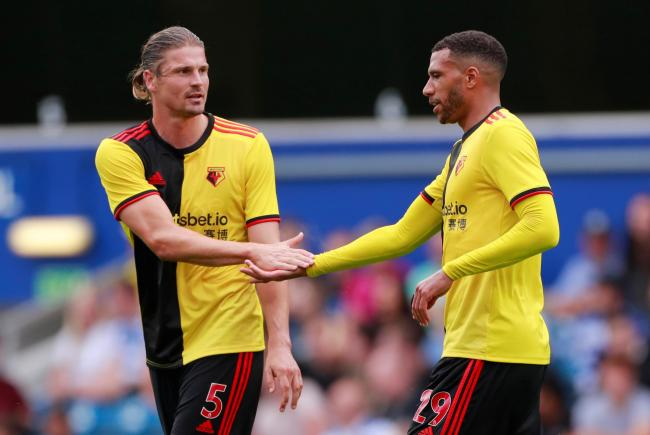 Sebastian Prodl and Etienne Capoue during a pre-season friendly. Picture: Action Images