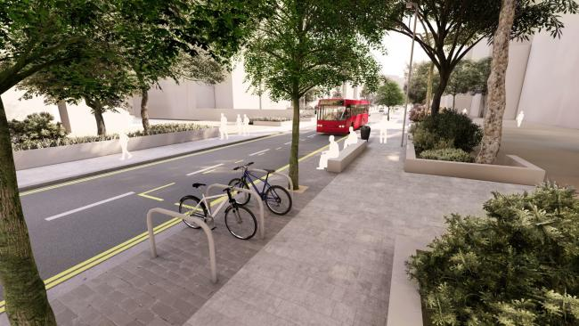 CGI transformation of Clarendon Road. Credit: Watford Borough Council