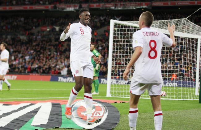 Danny Welbeck and Tom Cleverley with England. Picture: Action Images