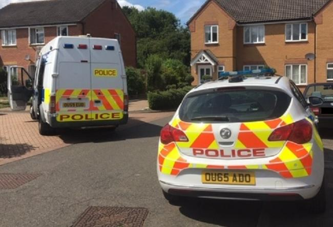 Police raided two addresses in Brookside Road and Russell Way. Photo: Herts Police