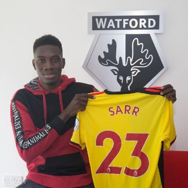 Ismaila Sarr will wear the number 23 shirt. Picture: Watford FC