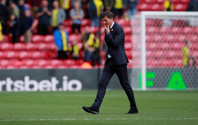 Plenty to think about: Javi Gracia following the full-time whistle. Picture: Action Images