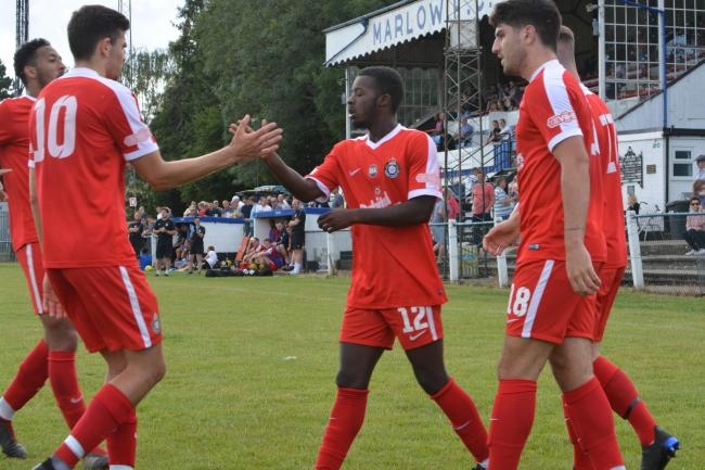 Kings Langley, pictured in pre-season, celebrated a great start to their season. Picture: Chris Riddell