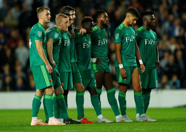 Watford were knocked out of last year's Carabao Cup on penalties. Picture: Action Images