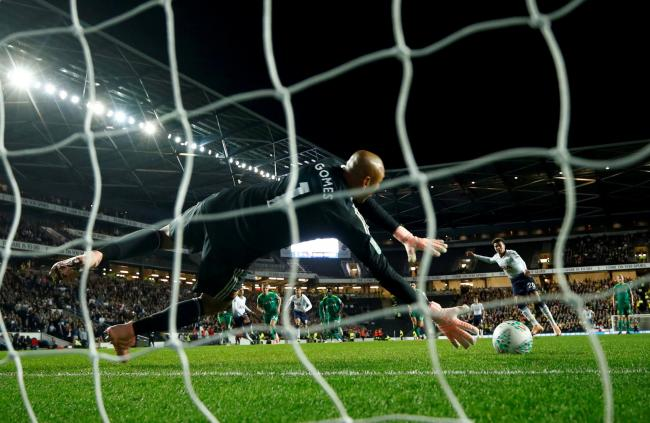 Watford were knocked out of the Carabao Cup on penalties by Tottenham Hotspur last season. Picture: Action Images