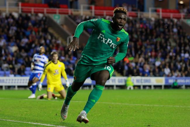 Isaac Success scores against Reading in the Carabao Cup. Picture: Action Images
