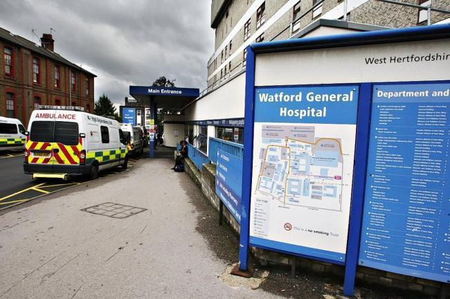 Nadine Joiner has praised the staff at Watford General Hospital