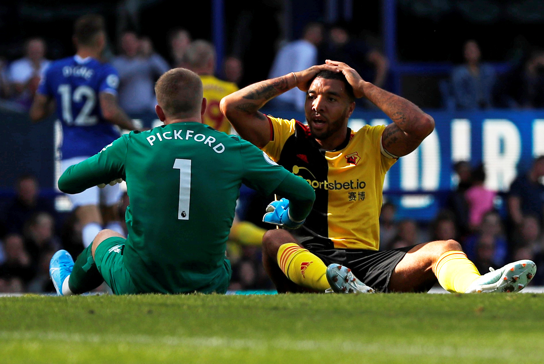A selection of images from Watford's defeat at Everton