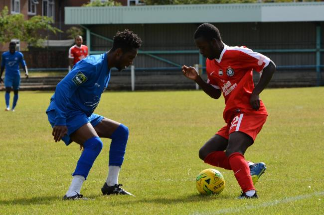 Matty Campbell-Mhlope scored Kings' first goal. Picture: Chris Riddell