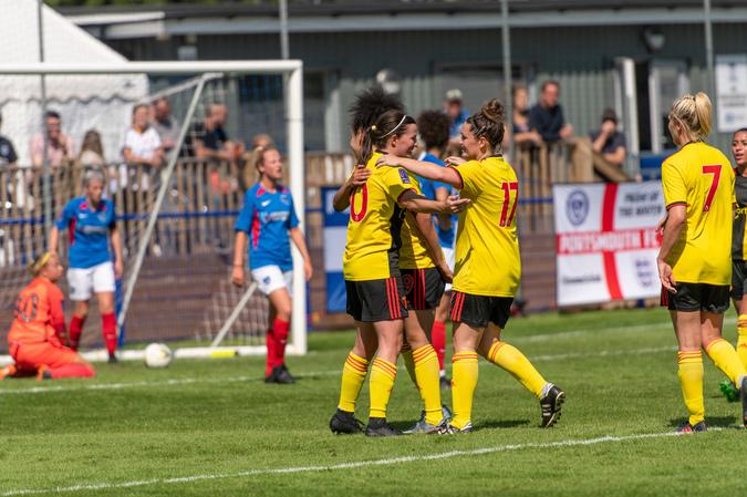 Watford FC Ladies make winning start at Portsmouth thanks to captain Helen Ward's double
