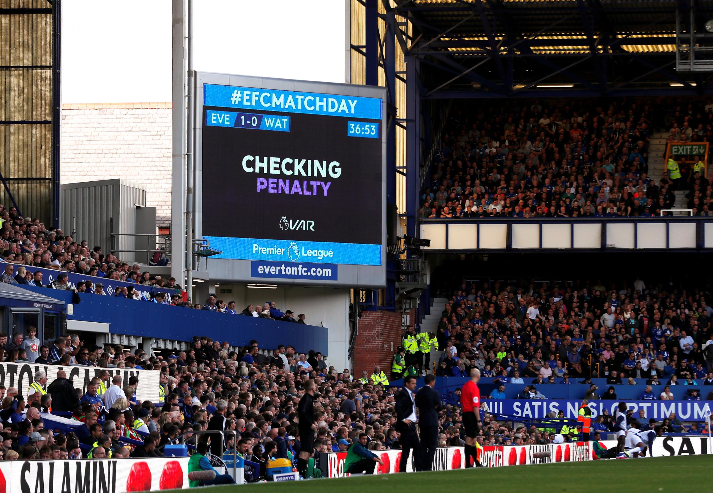 Neil Swarbrick believes it is too early to change VAR displays inside stadiums