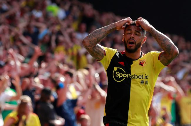 Andre Gray during Watford's defeat to West Ham. Picture: Action Images