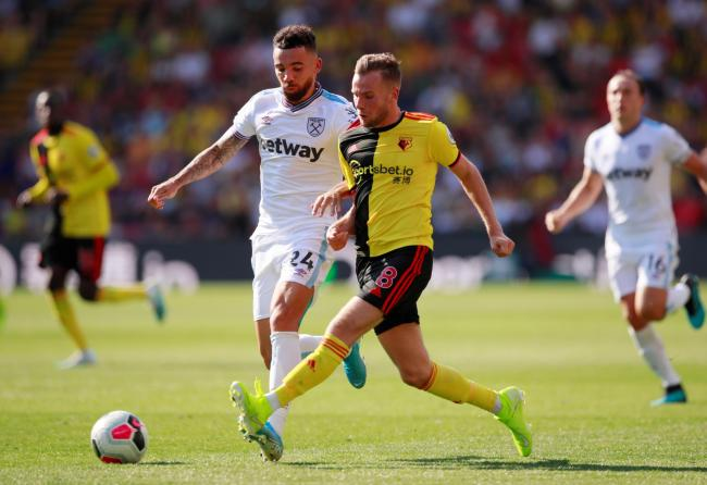 Tom Cleverley during the game against West Ham. Picture: Action Images