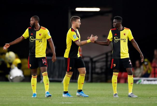 Watford players celebrate during their win over Coventry. Picture: Action Images