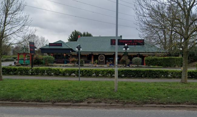 A Google Maps street view of the Imperial China restaurant, where a group of caravans are. Photo: Google Street View