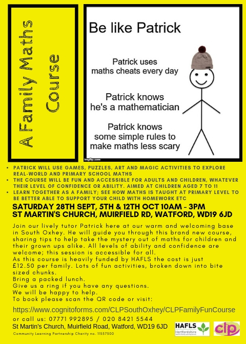 Family Maths Sessions - Help for families with KS2 children age 7 -11