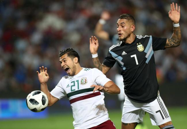 Roberto Pereyra in a friendly against Mexico. Picture: Action Images