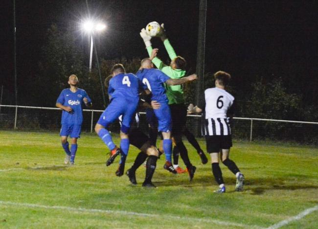 Oxhey Jets exited the Herts Charity Shield after losing on penalties to Colney Heath. Picture: Len Kerswill