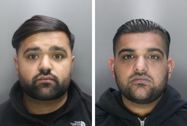 Nasir Hussain (left) and Mohammed Adil Khan (right) were found guilty of drug related offences (Credit Herts Police)