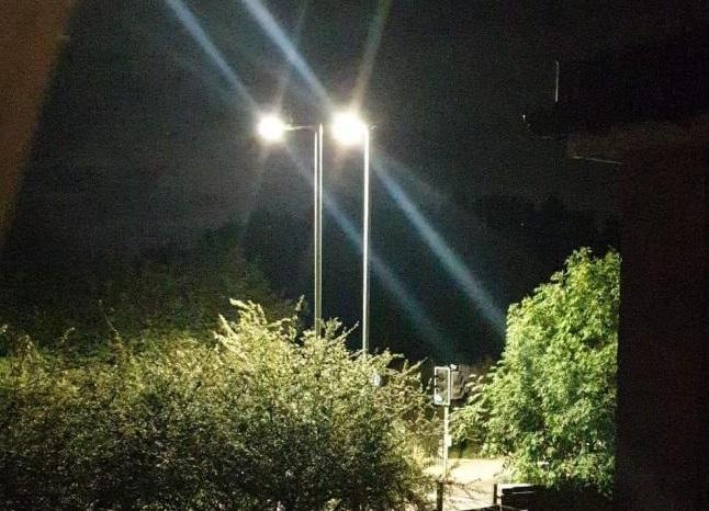 The two street lights are in Tolpits Lane, Watford (Photo Credit Richard Downey)