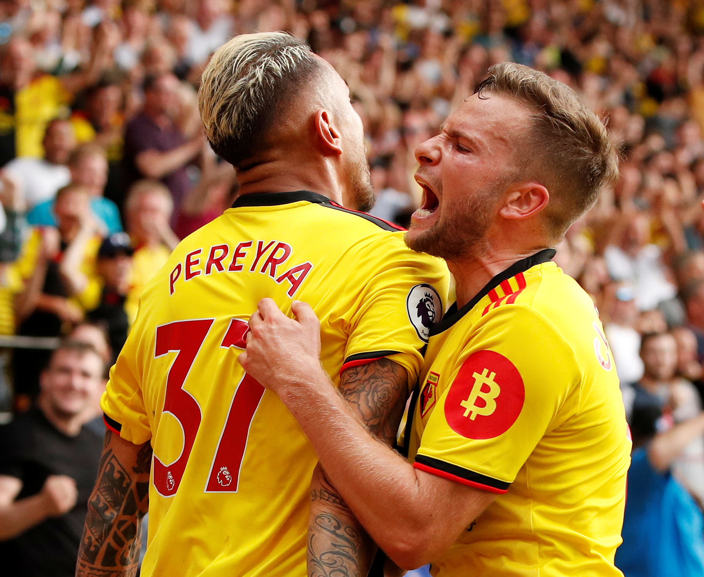 Watford came from two goals down to snatch a point against Arsenal