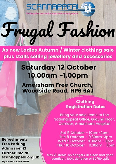 Frugal Fashion in aid of Scannappeal