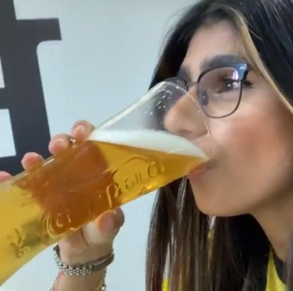 Mia Khalifa visited the grounds during the Watford v Arsenal game