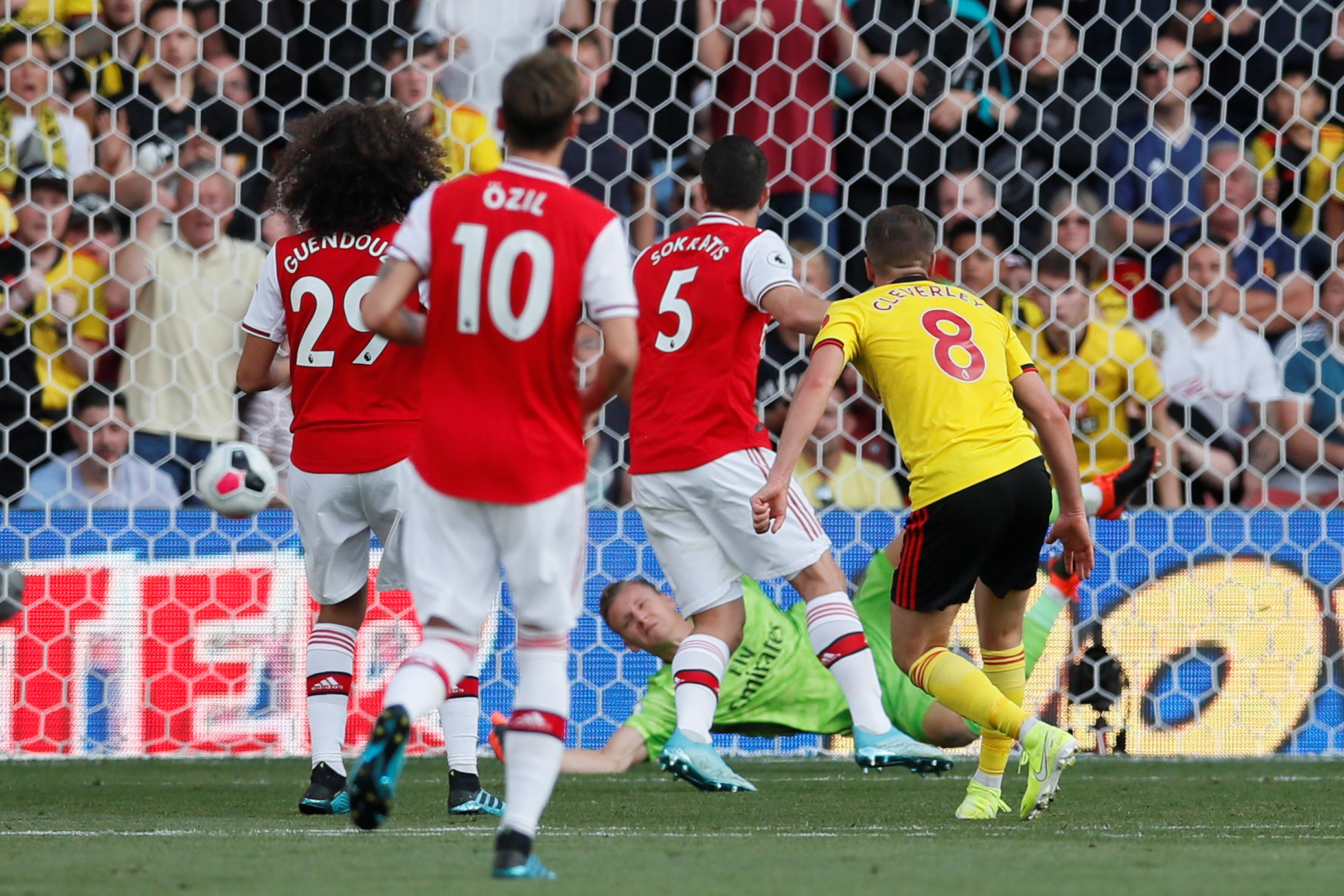 Tom Cleverley was surprised by Arsenal's dangerous tactics against Watford