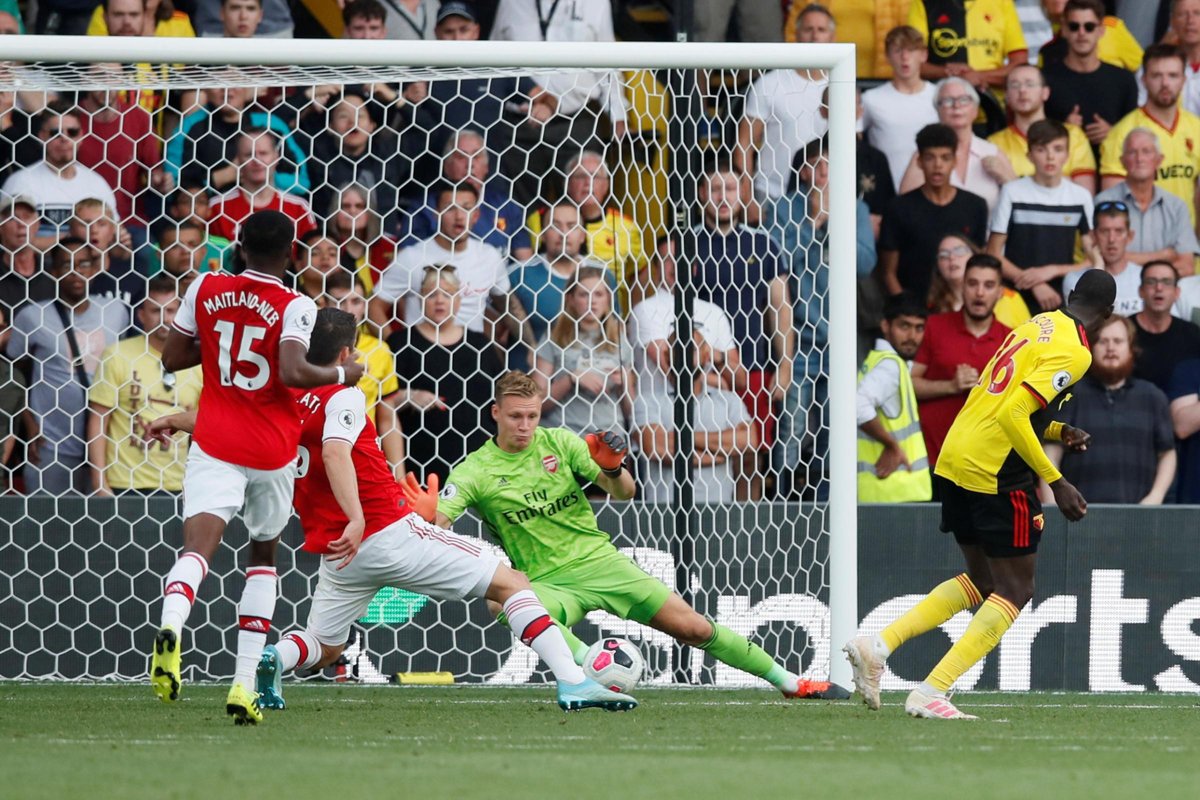 Bernd Leno claims Arsenal were fortunate not to lose against Watford