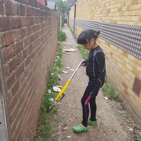 Gauri Babbar cleaned up the alleyway at Lowestoft Road.