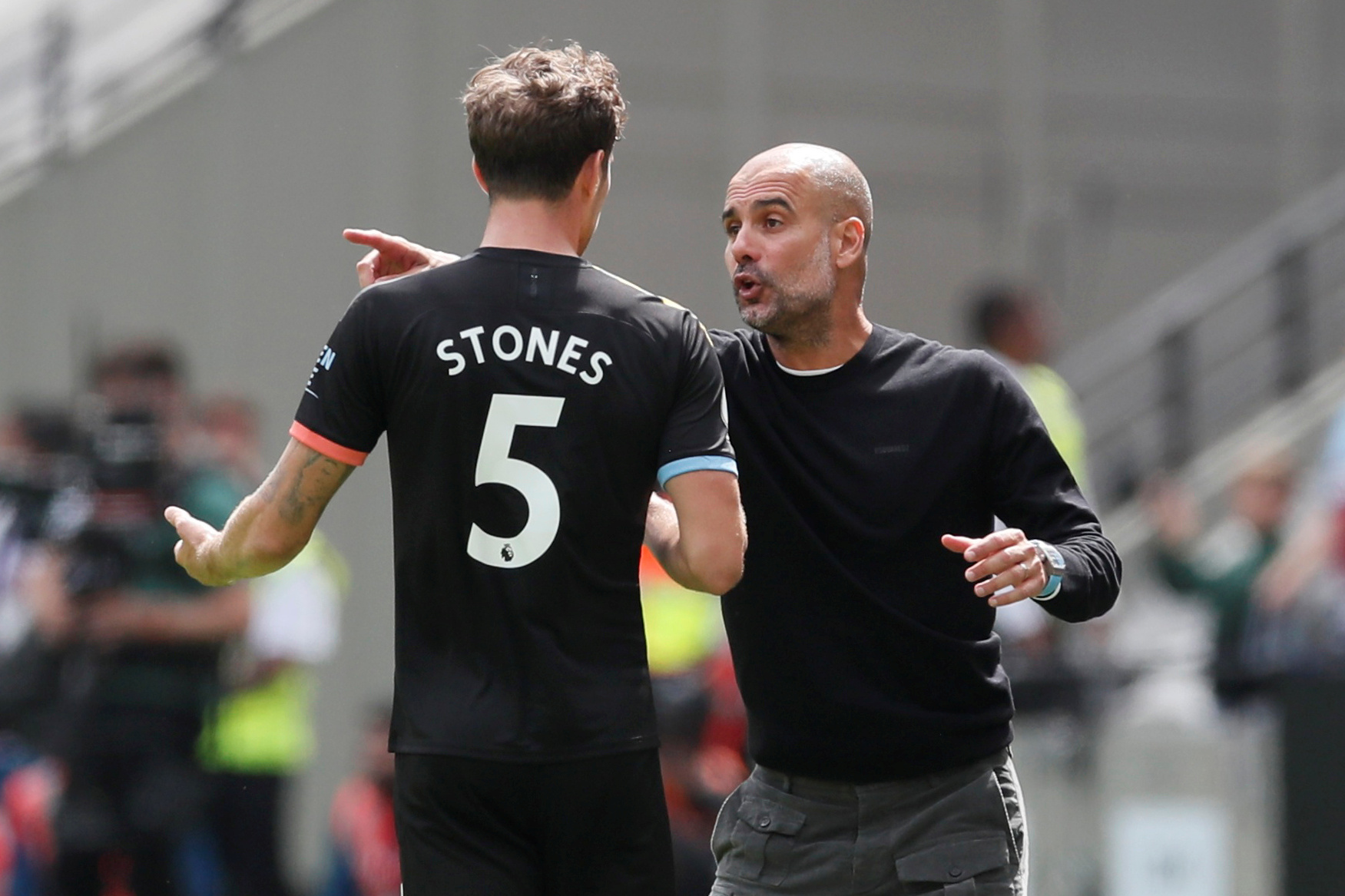 Manchester City will be without John Stones for Watford's visit on Saturday