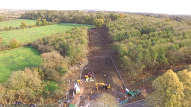 Construction work has not begun, but there has been extensive preparatory work near Hillingdon (Photo: Hillingdon Against HS2)