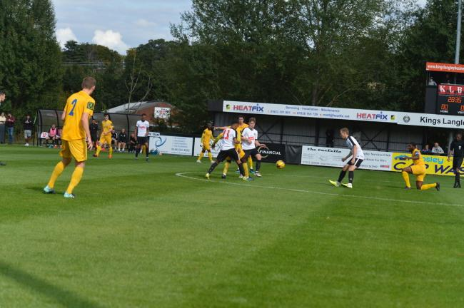 Kings Langley beat Barking in the first qualifying round. Picture: Len Kerswill
