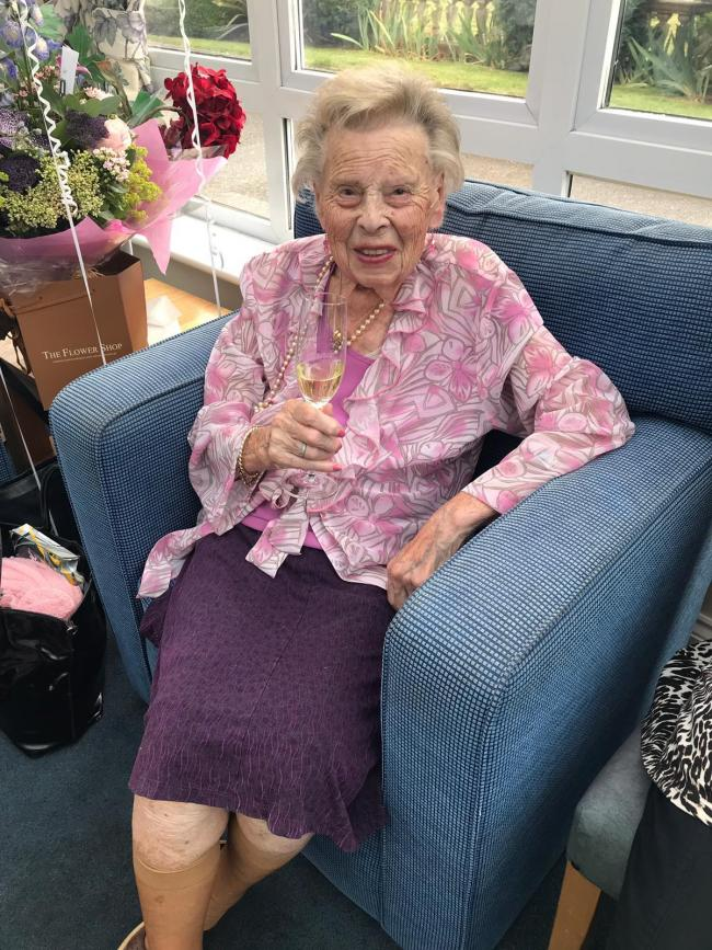Amelia Flood (pictured) turned 100 earlier this month