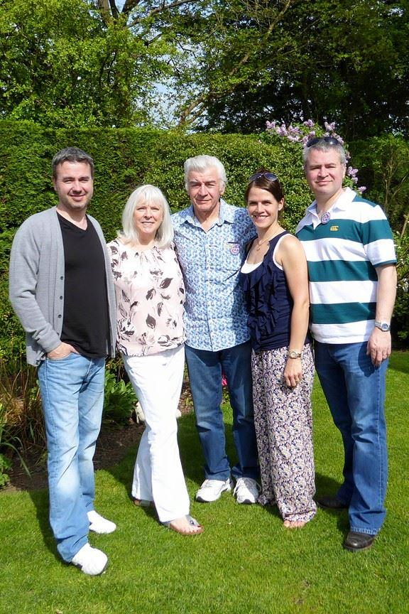 Watford Observer: From left to right: Lloyd, his mother, father, Tertia, and his brother Marcus